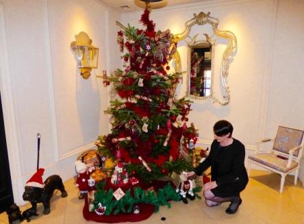 décoration sapin de Noël Hôtel Le Royal Lyon