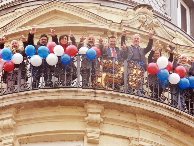 la façade de l'hôtel le royal lyon le jour des 50 ans du groupe Accor