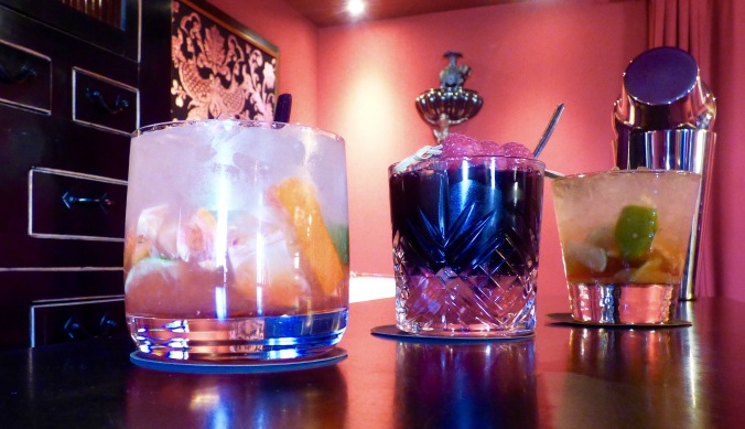 Les cocktails au bar de l'hôtel Le Royal Lyon