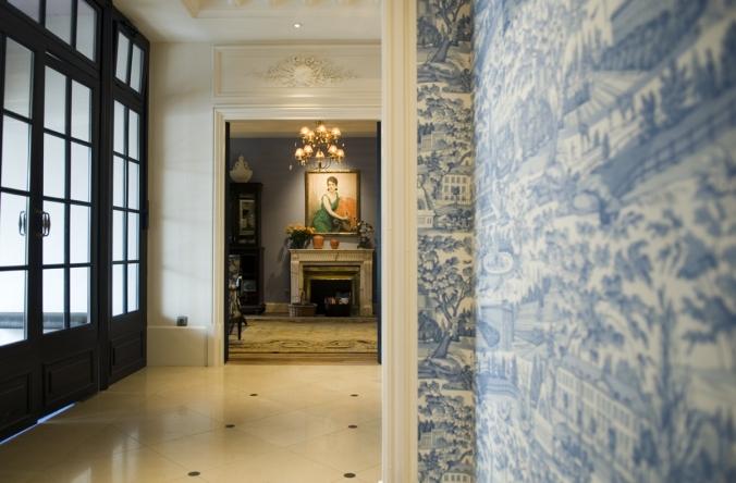 Le Hall d'entrée de l'hôtel le Royal Lyon, une décoration tendance