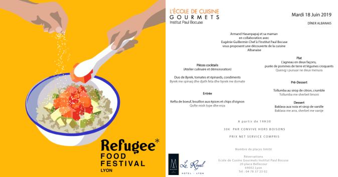 L'hôtel Le Royal Lyon participe au Refugee Food Festival